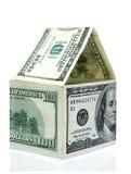 Casa feita dos dólares Fotografia de Stock