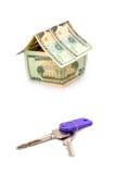 A casa feita dos dólares Fotos de Stock Royalty Free