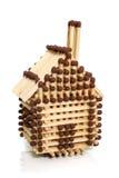 Casa feita dos fósforos Imagem de Stock
