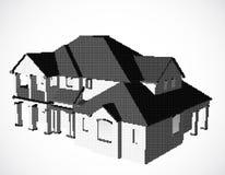 Casa feita dos pontos. Vetor ilustração do vetor