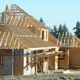 Novos domicilios da construção da casa Fotos de Stock