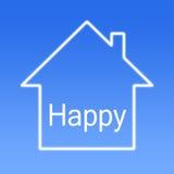 Casa feliz foto de stock