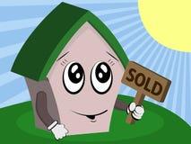 Casa feliz vendida Foto de Stock Royalty Free