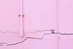 Casa fendentesi della parete Fotografia Stock Libera da Diritti