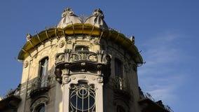 Casa Fenoglio Lafleur is a historic building in Turin. Turin, Piedmont region, Italy. 11 May 2018. Casa Fenoglio Lafleur is a historic building in Turin, emblem stock video