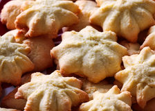 A casa fez cookies de manteiga Fotos de Stock