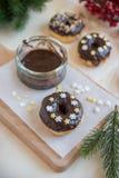 A casa fez filhóses do chocolate Foto de Stock Royalty Free