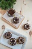 A casa fez filhóses do chocolate Imagens de Stock Royalty Free