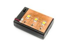 A casa fez a lâmpada do diodo emissor de luz com interruptor Fotos de Stock