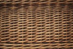 A casa fez o detalhe da textura da cesta de vime imagens de stock