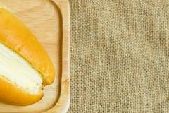A casa fez o pão da manteiga Fotos de Stock Royalty Free