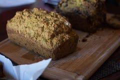 A casa fez o pão do abobrinha Fotos de Stock