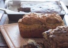 A casa fez o pão do abobrinha Foto de Stock Royalty Free