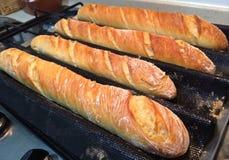 A casa fez o pão francês do Baguette Fotografia de Stock