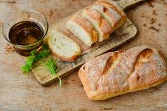 A casa fez o pão italiano do ciabatta, fotografia de stock royalty free