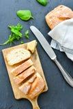 A casa fez o pão italiano do ciabatta, imagem de stock