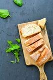 A casa fez o pão italiano do ciabatta, fotos de stock royalty free