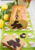 A casa fez a Páscoa Bunny Cake imagem de stock