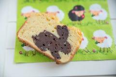 A casa fez a Páscoa Bunny Cake imagens de stock