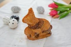 A casa fez a Páscoa Bunny Cake imagens de stock royalty free