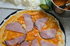 A casa fez a pizza com soda Imagens de Stock