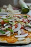 A casa fez a pizza com soda Foto de Stock Royalty Free