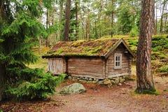 Casa finlandesa tradicional Fotos de Stock Royalty Free
