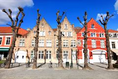 Casa flamenga do estilo na cidade de Bruges, Bélgica fotos de stock royalty free