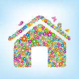 casa floral ilustración del vector