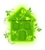 Casa floral verde del eco Foto de archivo libre de regalías