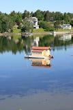 Casa flotante Imagen de archivo libre de regalías