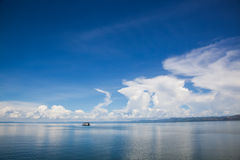 Casa flotante de Kariba Fotografía de archivo libre de regalías
