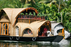 Casa flutuante de Keralan Foto de Stock Royalty Free