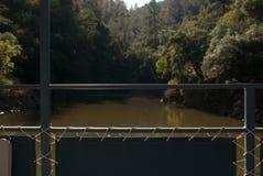 Casa flutuante no lago Foto de Stock Royalty Free