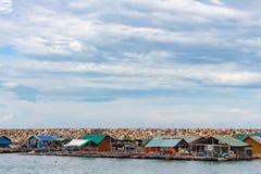 Casa flutuante no mar Imagem de Stock Royalty Free
