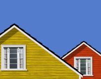 Casa folheada/casa da madeira moderna fotografia de stock