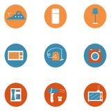 A casa fornece ícones Imagens de Stock Royalty Free
