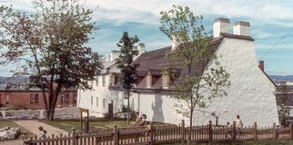 Casa francese vecchia di visita di stile aSan-Joachim Immagine Stock