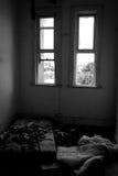 Casa frecuentada abandonada Imagen de archivo