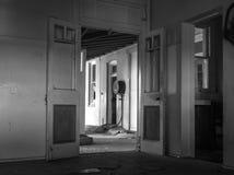 Casa frecuentada abandonada Foto de archivo