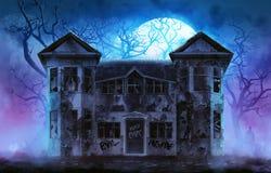 Casa frecuentada del horror Fotos de archivo libres de regalías