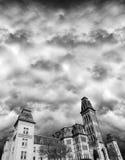 Casa frecuentada, Víspera de Todos los Santos, estilo gótico del Victorian Foto de archivo libre de regalías