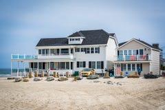 Casa fronte mare in Hampton Beach, New Hampshire immagini stock libere da diritti