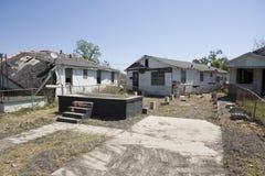 Casa fuori dal quartiere New Orleans del fondamento nono Fotografia Stock
