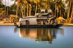 Casa galleggiante in India Fotografie Stock Libere da Diritti