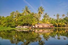 Casa galleggiante in India Immagine Stock Libera da Diritti