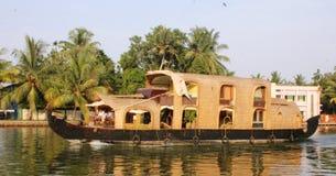 Casa galleggiante India Fotografie Stock Libere da Diritti