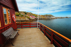 Casa galleggiante in Norvegia Immagine Stock Libera da Diritti