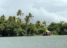 Casa galleggiante, stagni, Kerala, India Fotografia Stock Libera da Diritti