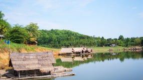 Casa galleggiante in Tailandia fotografia stock
